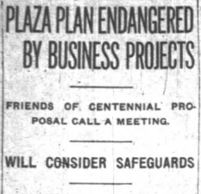 Indianapolis centennial plaza proposal