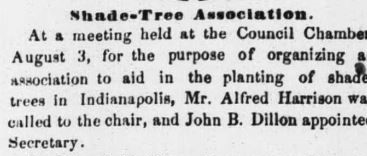 The 1858 Shade Tree Association of Indianapolis