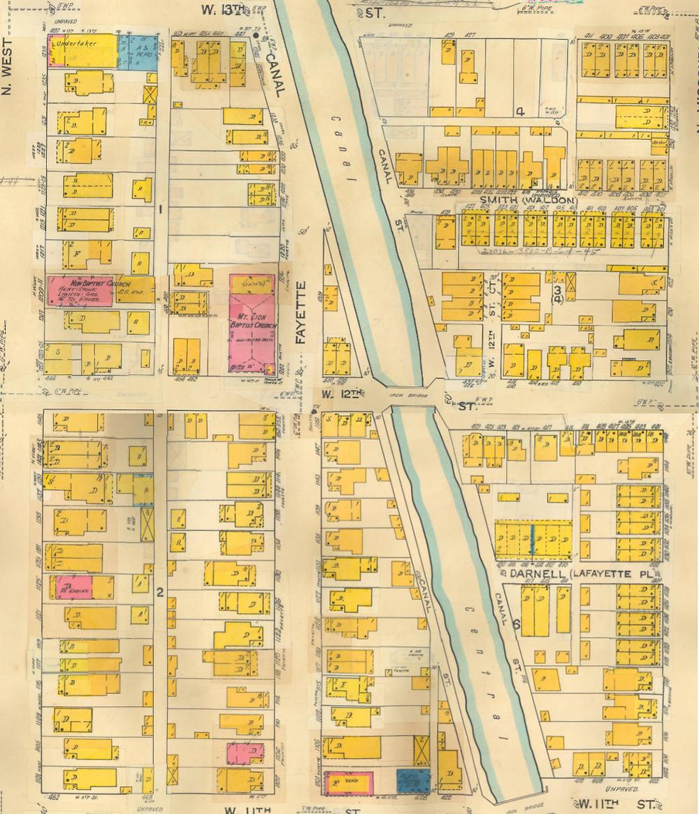 Sanborn Map Indianapolis history Indiana avenue