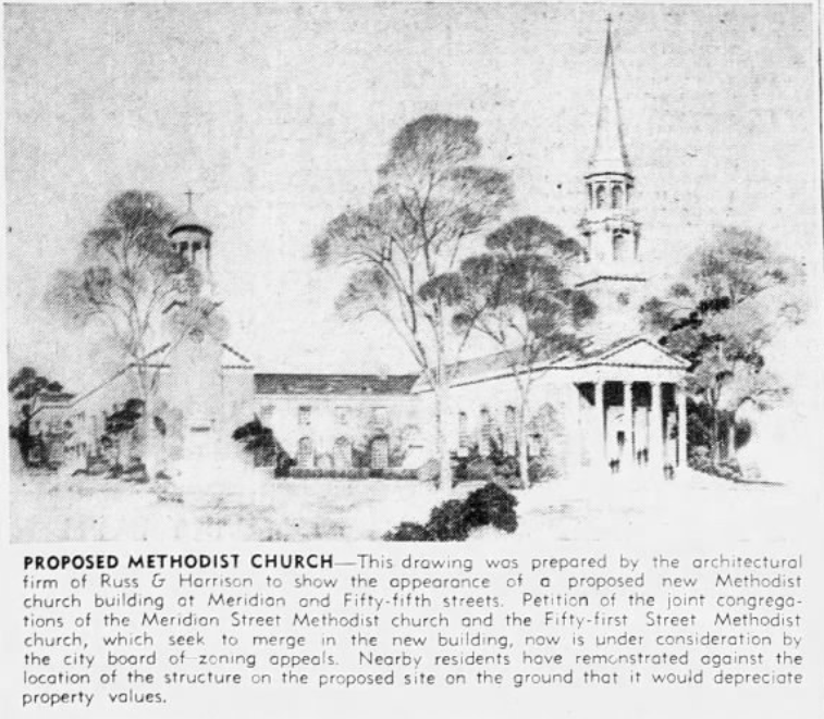 Meridian Street Methodist Church Indianapolis history #indyturns200