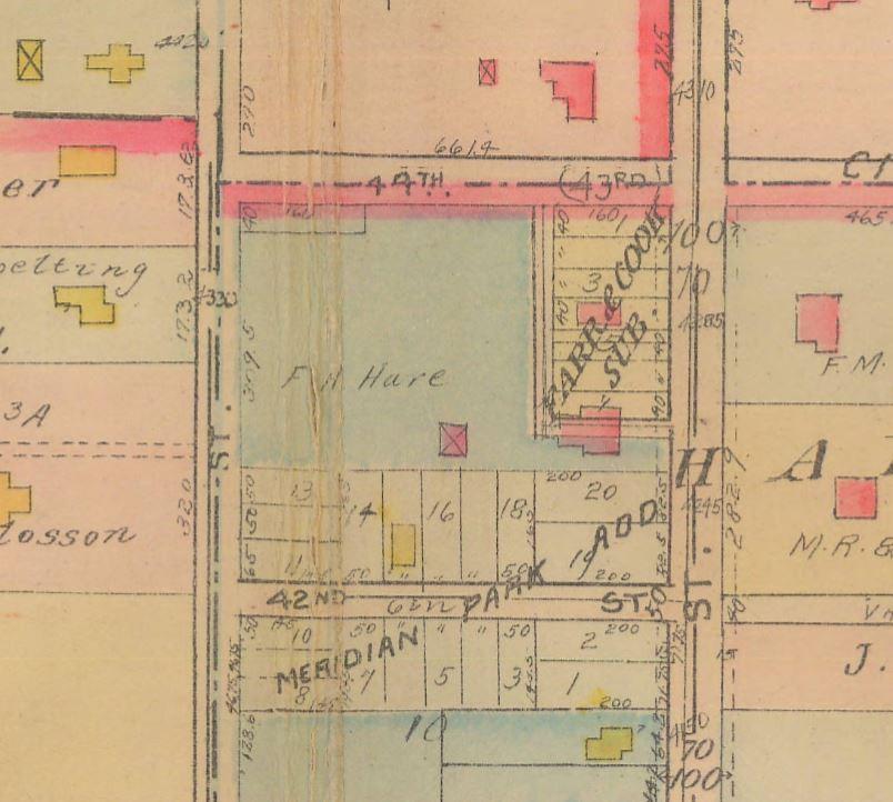 Baist Map Indianapolis Tarkington House Indianapolis