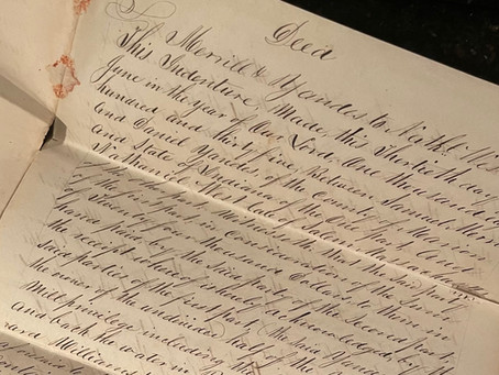 eBay Find: Nathaniel West and the Purchase of Land in Indianapolis