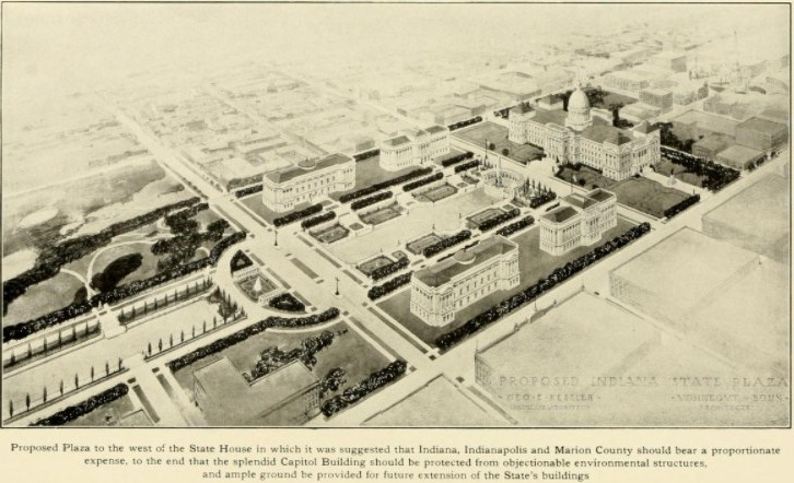Vonnegut Bohn Indiana statehouse plaza centennial plan #indyturns200 Indianapolis centennial