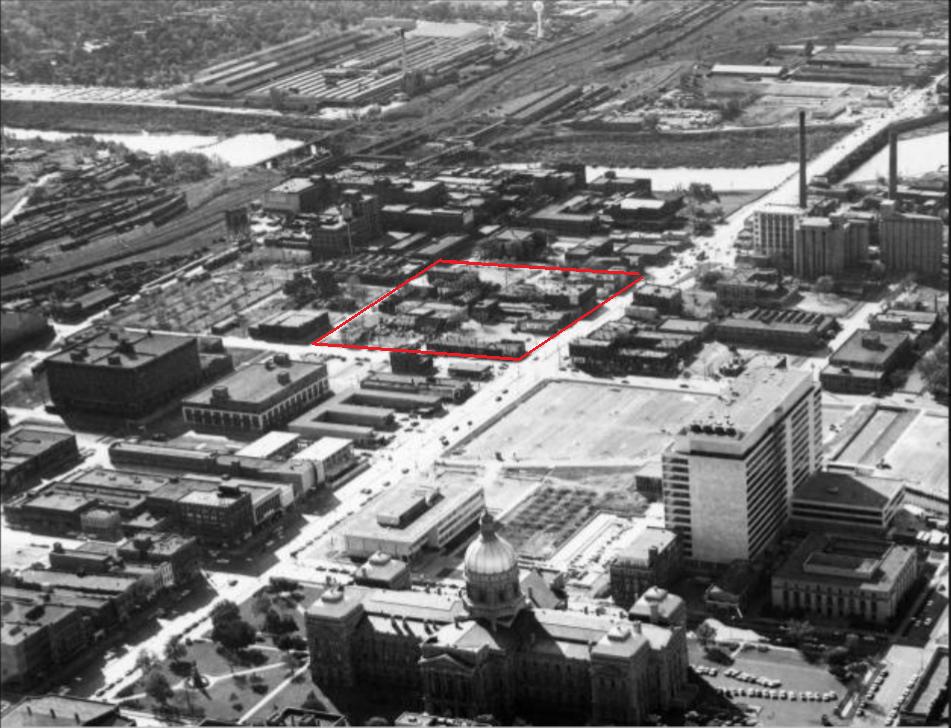 Indianapolis history #indyturns200 downtown Washington Street JW Marriott