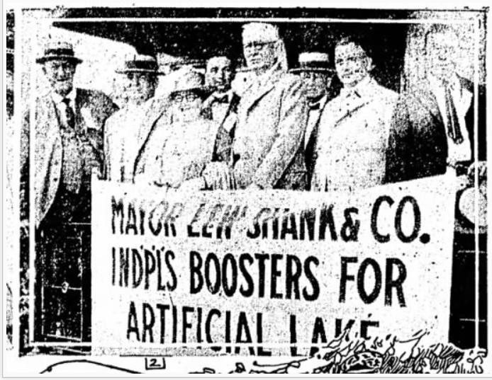 Lew Shanks Indianapolis history white river lake