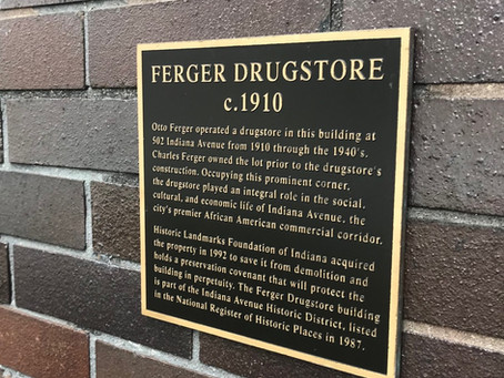 #indyplaques - The Ferger Drugstore
