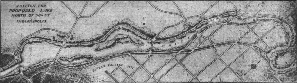 White river lake Indianapolis History