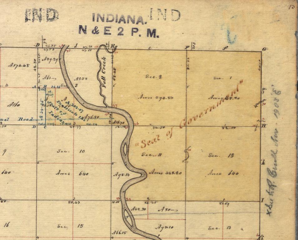 Indianapolis history survey city Fall Creek White River