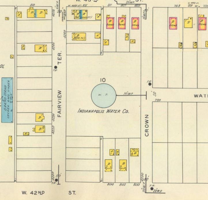 Sanborn map Indianapolis Water company