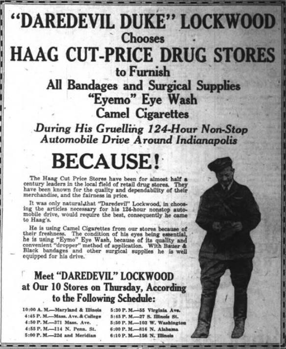 Haag drug stores Indianapolis automobile indyturns200