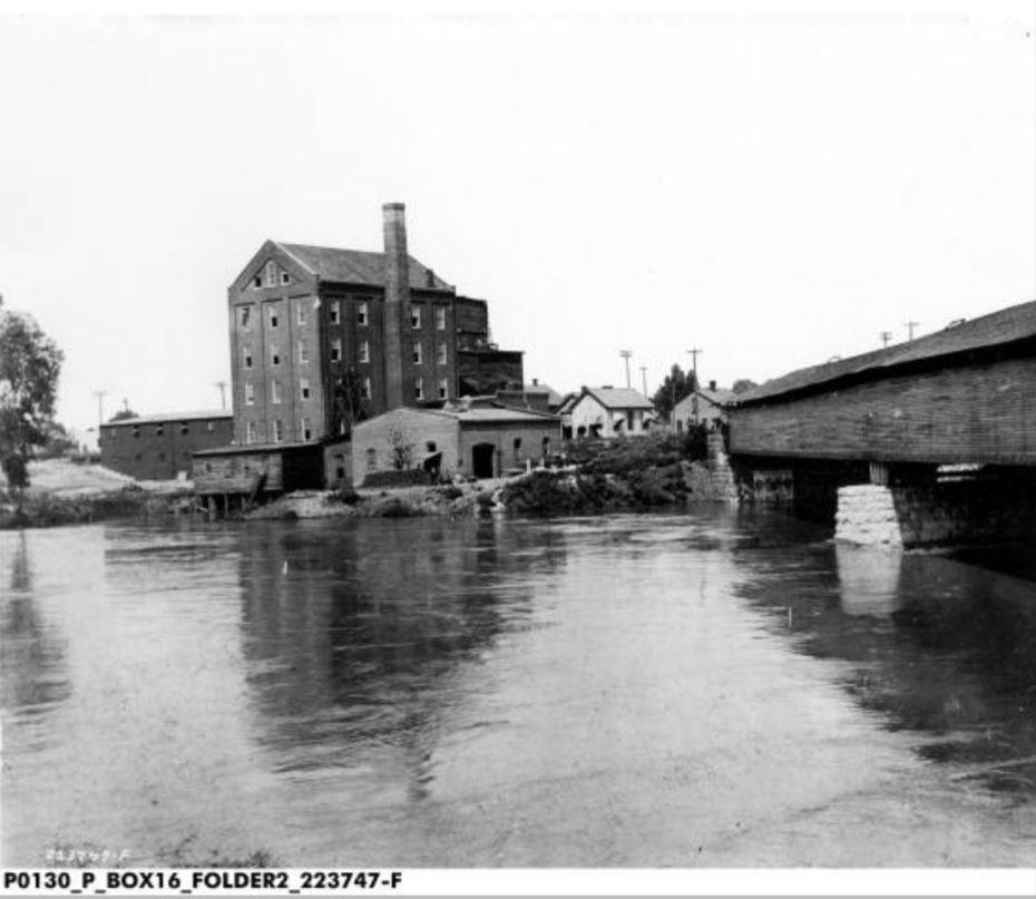 Hoosier State Mills covered bridge Indianapolis #indyturns200
