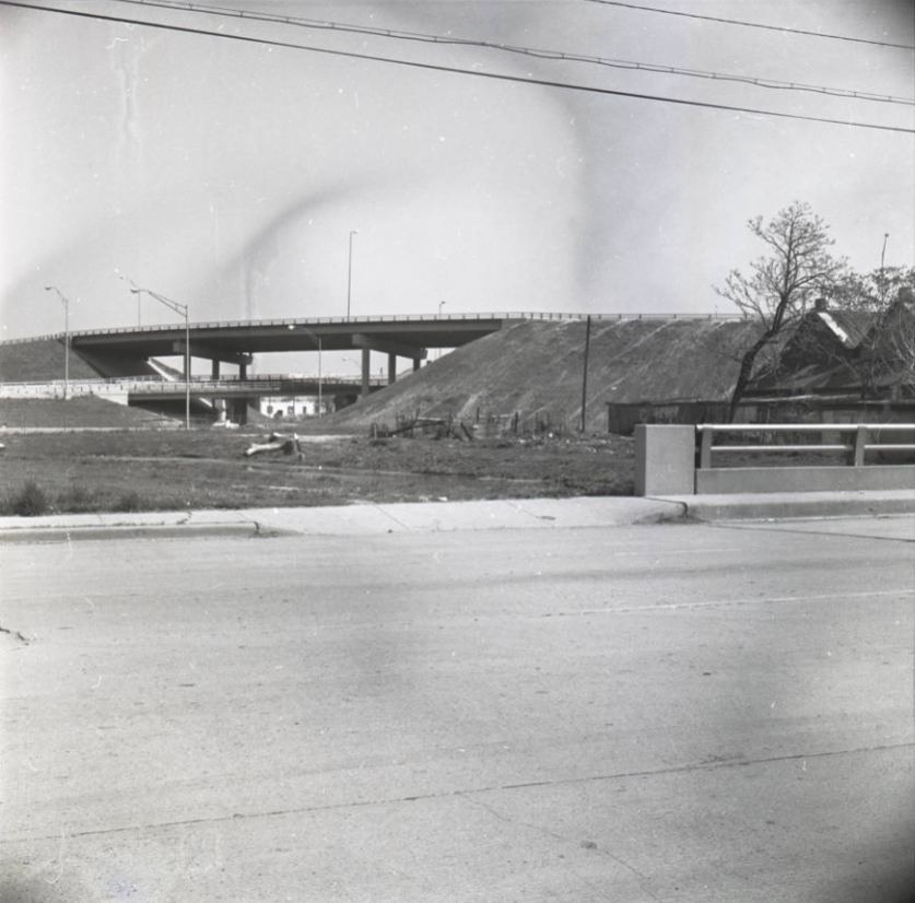 Indianapolis history central canal interstate construction