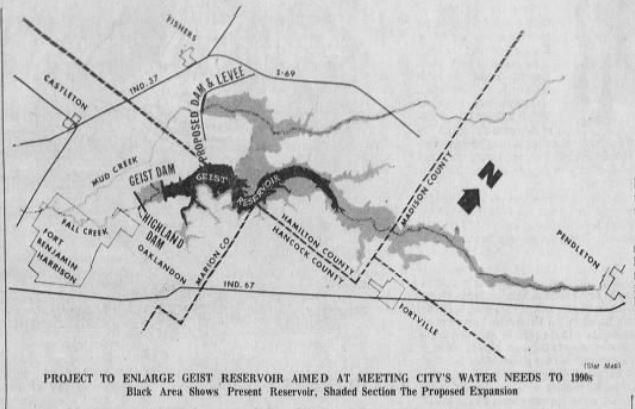 Highland reservoir Geist Indianapolis