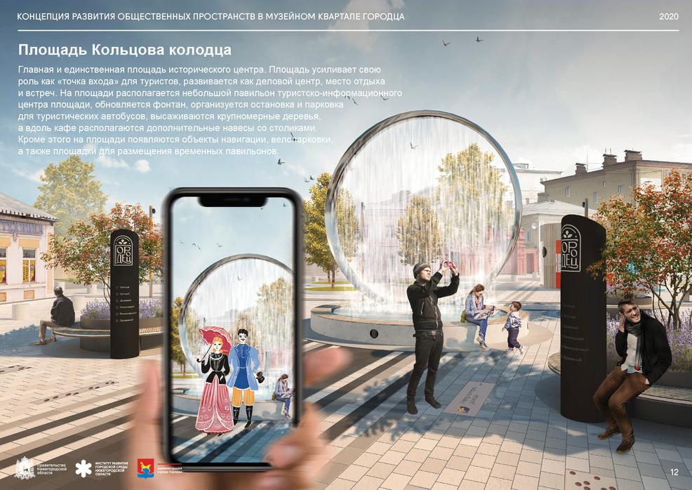 Площадь Кольцова колодца. Визуализация