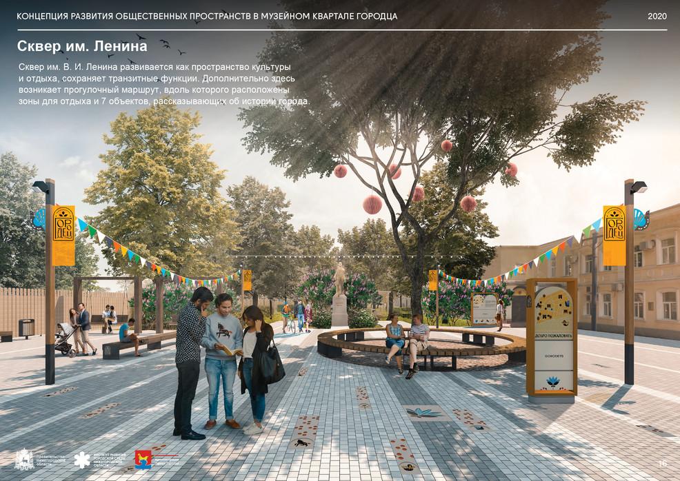 Сквер Ленина. Визуализация