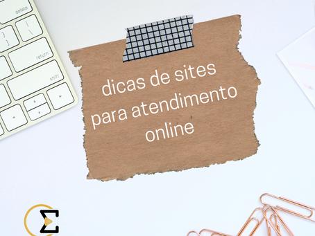Dicas de sites para atendimento online