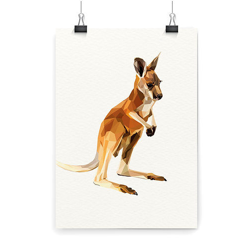 Kangaroo Wall Art Print