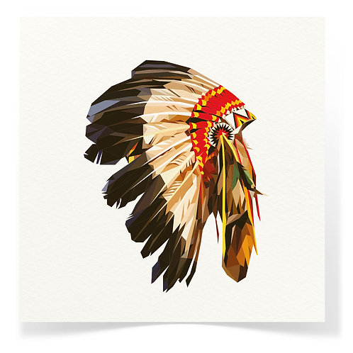 American Native Indian War Bonnet Greeting Cards 3pack