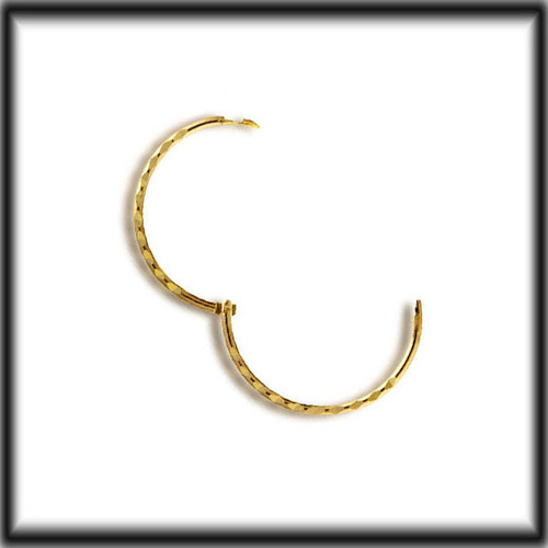 9ct Gold Hinged Single Hoop Sleeper Earring