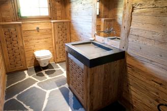 Innenausbau Badezimmer Altholz