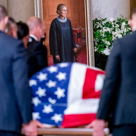 In death, as in life, Ruth Bader Ginsburg balanced being American and Jewish