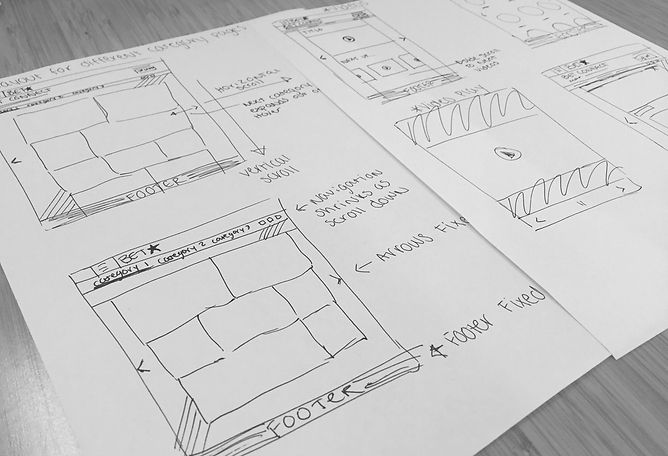 Wireframe Skeches