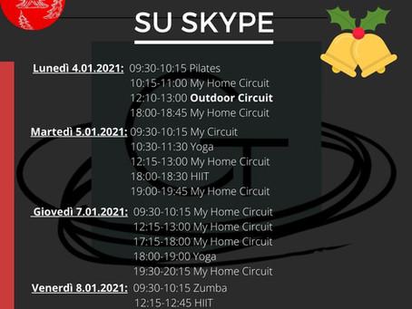 Corsi di Gruppo su Skype 4.01.2021- 8.01.2021