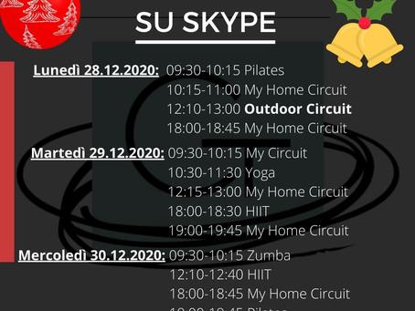 🎄💪 Corsi di Gruppo su Skype 🎄💪