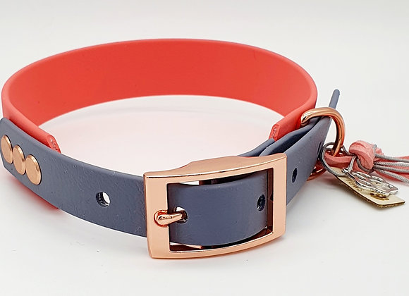 Waterproof Two-Colour Dog Collar