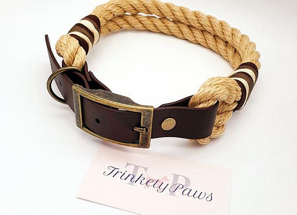 Twisted Paracord Biothane Dog Collar