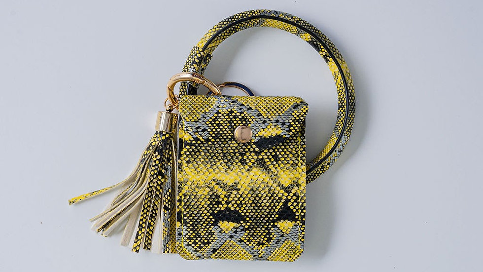 Black and Yellow Wristlet
