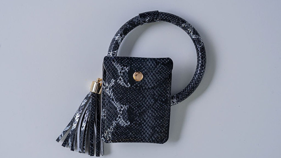 Black and Silver Wristlet