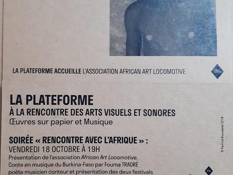 """Carton d'invitation """"Rencontre avec l'Afrique"""""""