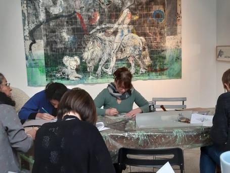 Atelier gravure avec Tereza Lochamnn autour de l'exposition de ces oeuvres
