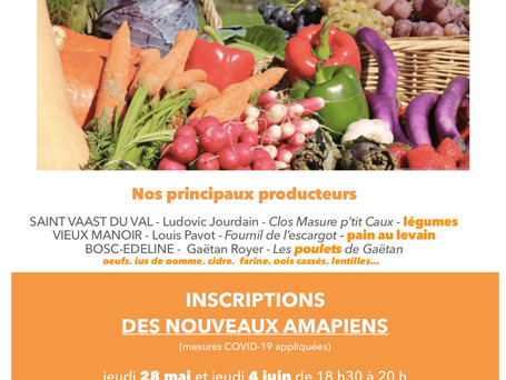 Affiche de l'AMAP