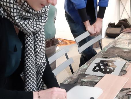 Atelier gravure avec Tereza Lochmann
