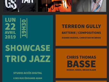 Affiche concert de Jazz exceptionnel de Terreon Gully, Chris Thomas et Cédric Hanriot.