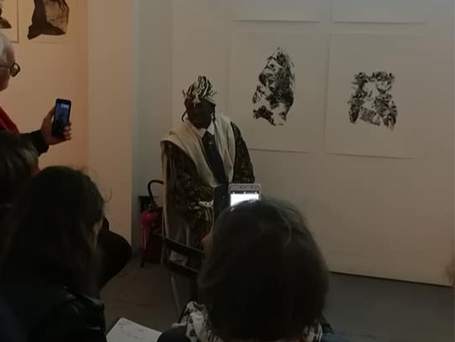 Fouma Traoré conteur, poète, musicien de l'association African Art Locomotive
