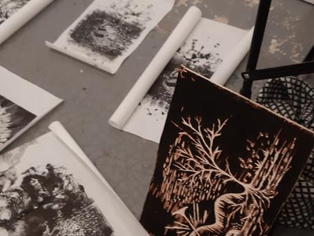 Travaux de gravures de l'atelier