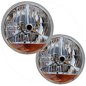 "7"" HEADLIGHT WITH SOLID INDICATOR"