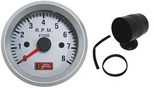 RPM GAUGE - SILVER