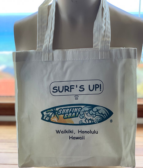 Large Surfing Goat Tote Bag