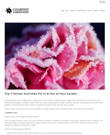 Clearview Garden Shop blog