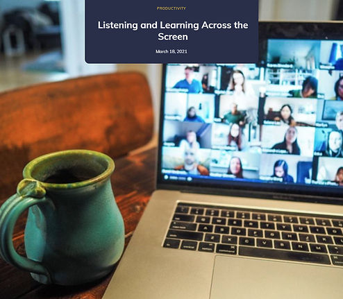 Listening and Learning Across the Screen blog post