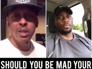 Gillie Da Kid and relationship coach Derrick Jaxn went back and forth on instagram