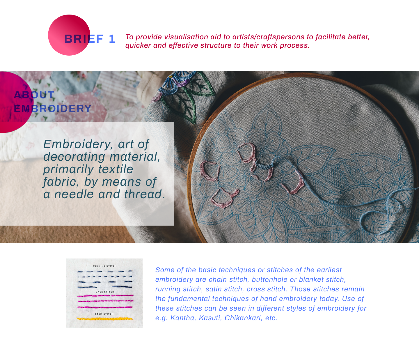 4 - initial brief and about embroidery.p