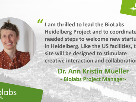 BioLabs HD start-up incubator moves ahead at flank speed by hiring a dedicated project manager