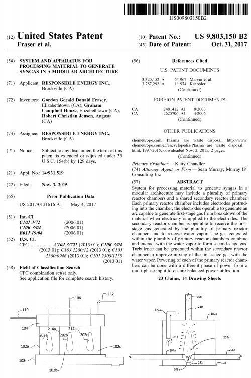 Patent No. US 9,803,150