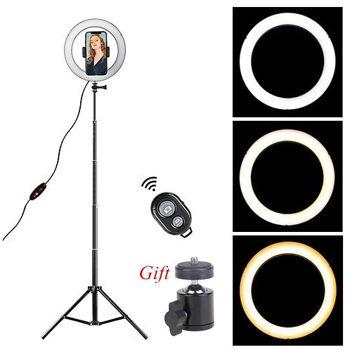 LED Ring Light 8.6 Inch Camera Tripod Phone Holder Studio Lamp Kit