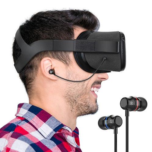 KIWI Design Stereo Earbuds Earphones for Oculus Quest VR Headset (Black,1 Pair)